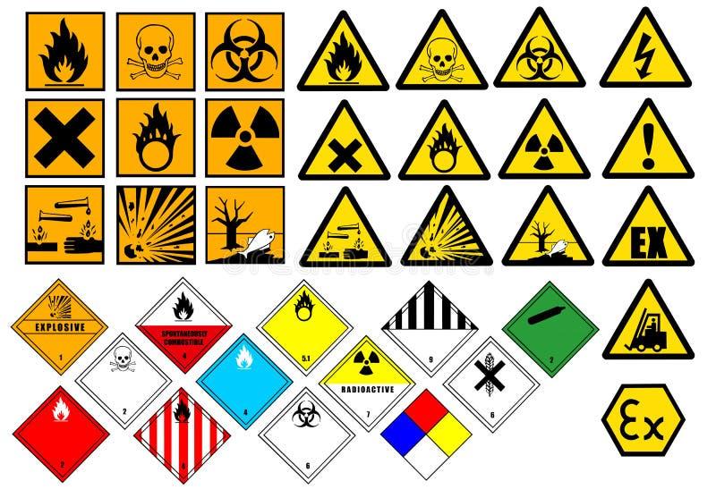 Chemische Symbole lizenzfreie abbildung