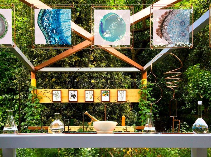Chemische toontuin in Chelsea Flower Show royalty-vrije stock fotografie