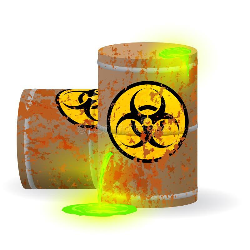 Chemischer Biologischer Abfall In Einem Rostigen Fass Giftige Grüne ...