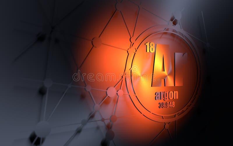 Chemisches Element des Argons lizenzfreie abbildung