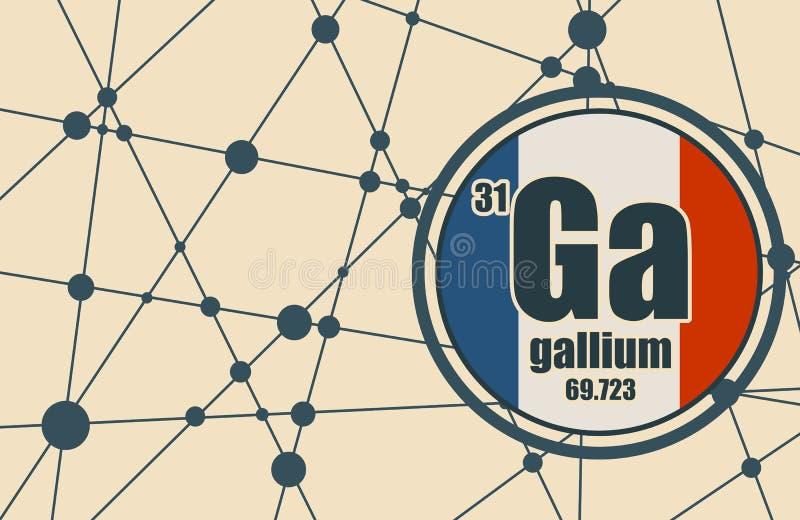 Chemisches Element des Galliums stock abbildung