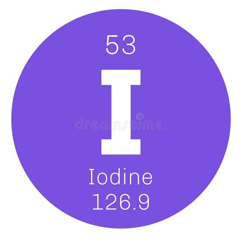 Chemisches Element des Jods stock abbildung