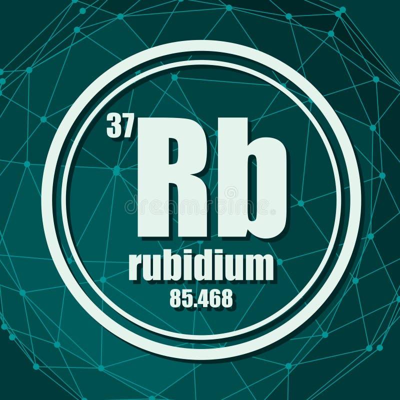 Chemisches Element des Rubidiums lizenzfreie abbildung