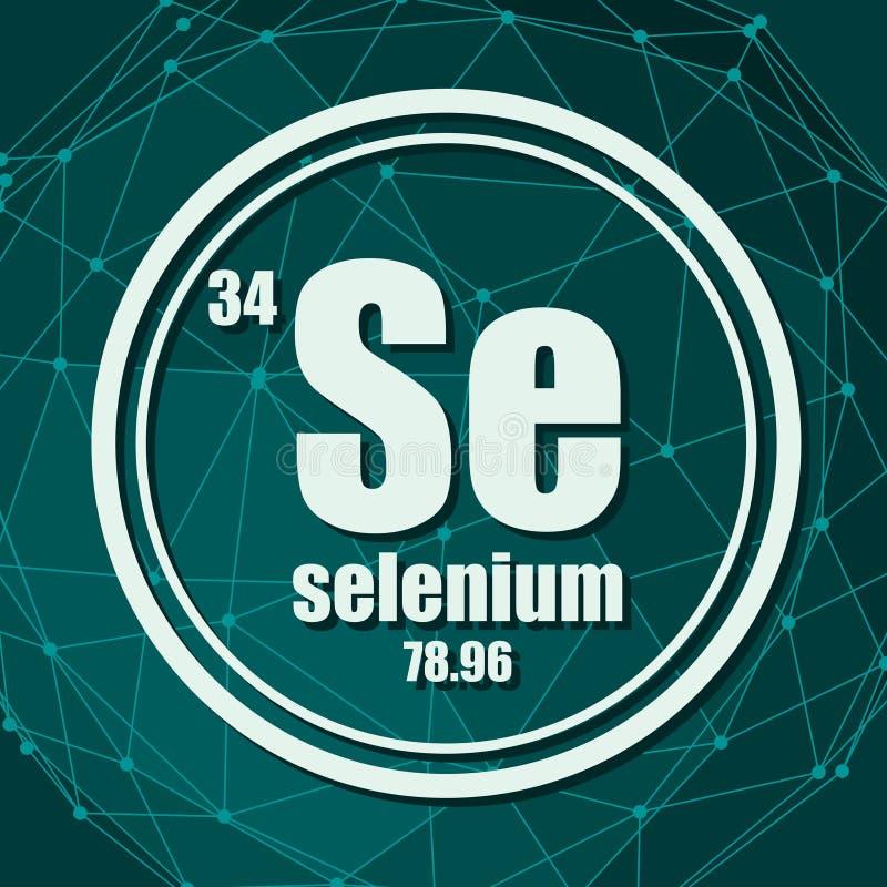 Chemisches Element des Selens vektor abbildung