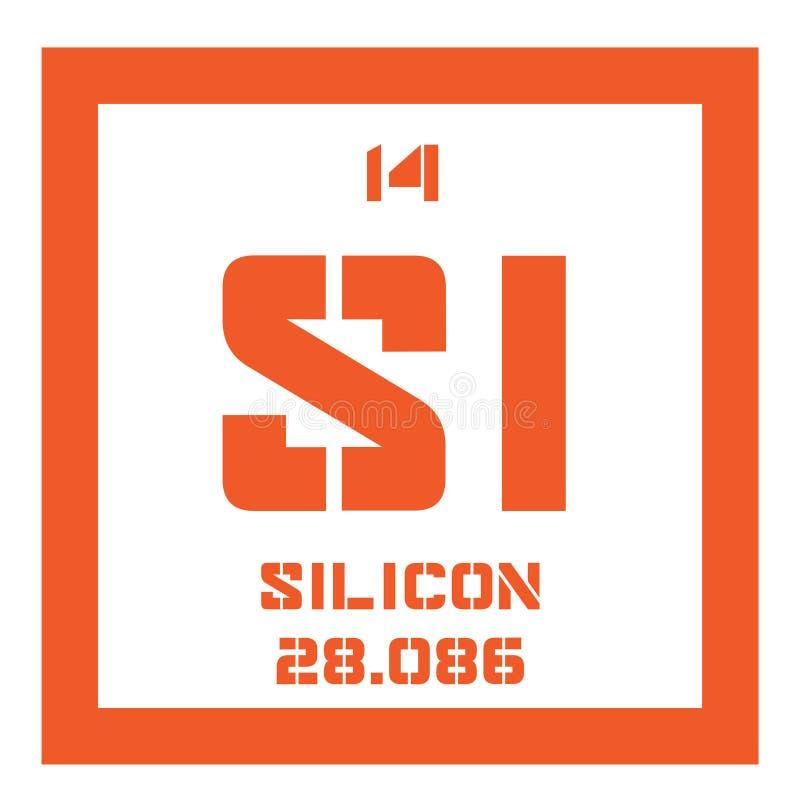 Chemisches Element des Silikons stock abbildung