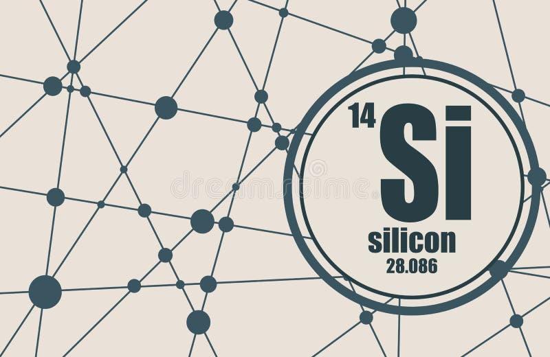 Chemisches Element des Silikons vektor abbildung
