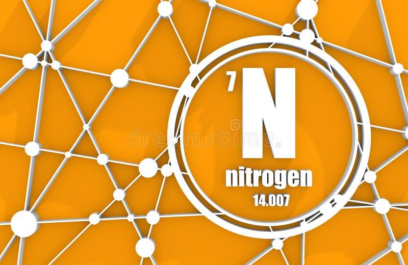 Chemisches Element des Stickstoffes lizenzfreie abbildung