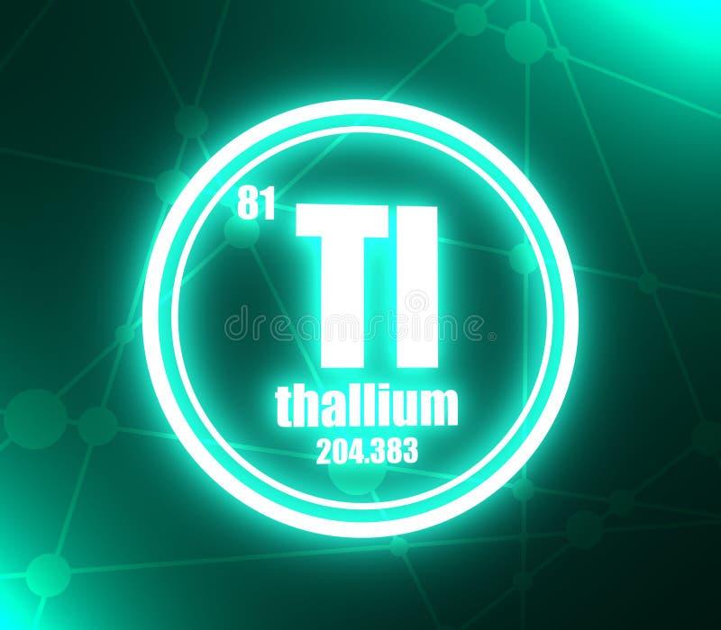 Chemisches Element des Thalliums lizenzfreie abbildung