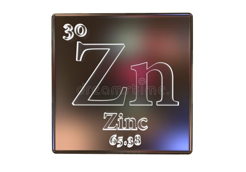 Chemisches Element des Zinks lizenzfreie abbildung