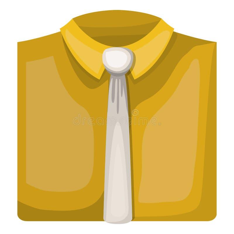 Chemise élégante avec la cravate illustration stock