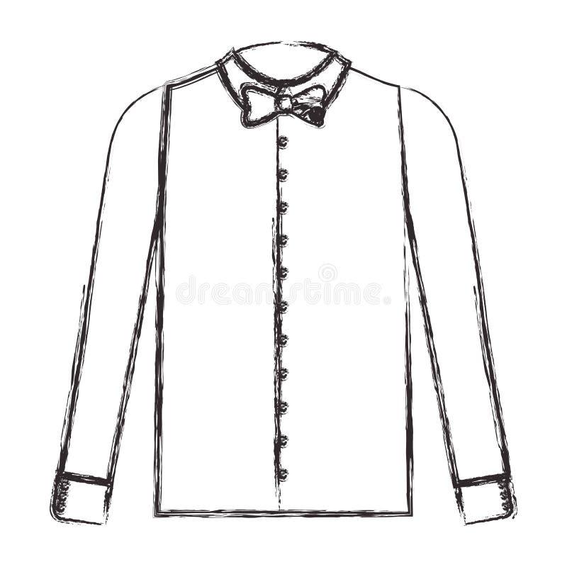 Chemise élégante avec le bowtie illustration de vecteur