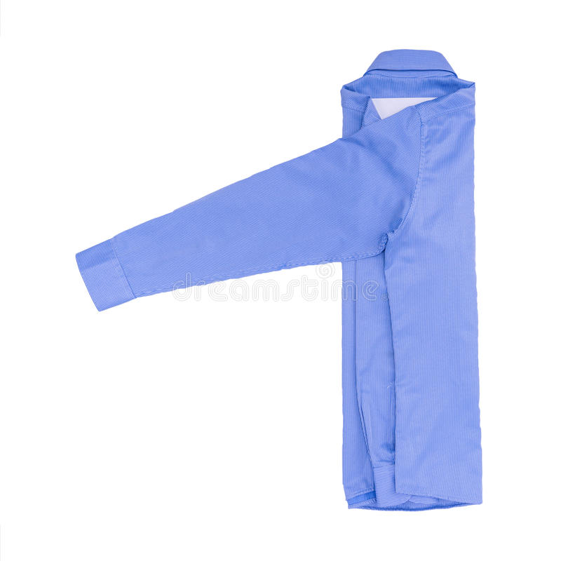 Chemise bleue d'isolement sur le fond blanc photo libre de droits