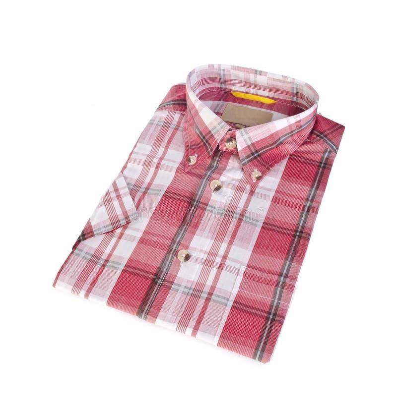 chemise, chemise d'homme \ 'de plaid de coton de s sur le fond photos libres de droits