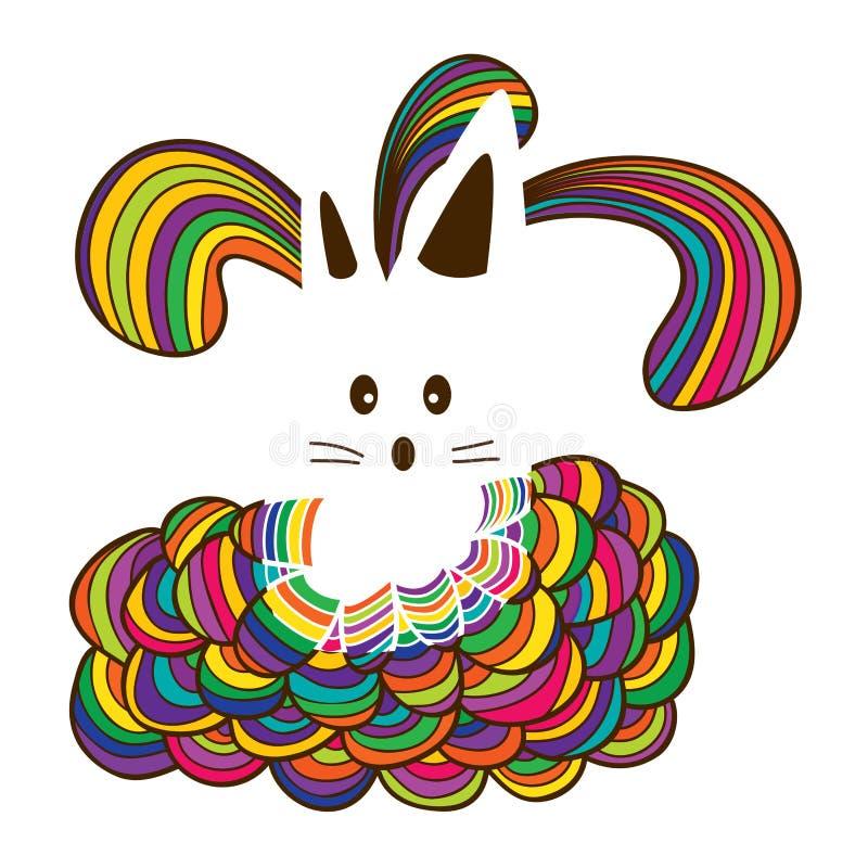 Chemise de chat colorée illustration de vecteur
