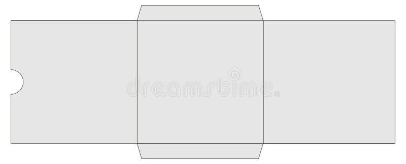 Chemise de livre de CD ou de DVD illustration libre de droits