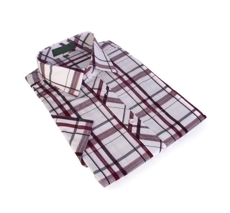 Chemise, chemise de plaid du coton de l'homme sur le fond photos stock