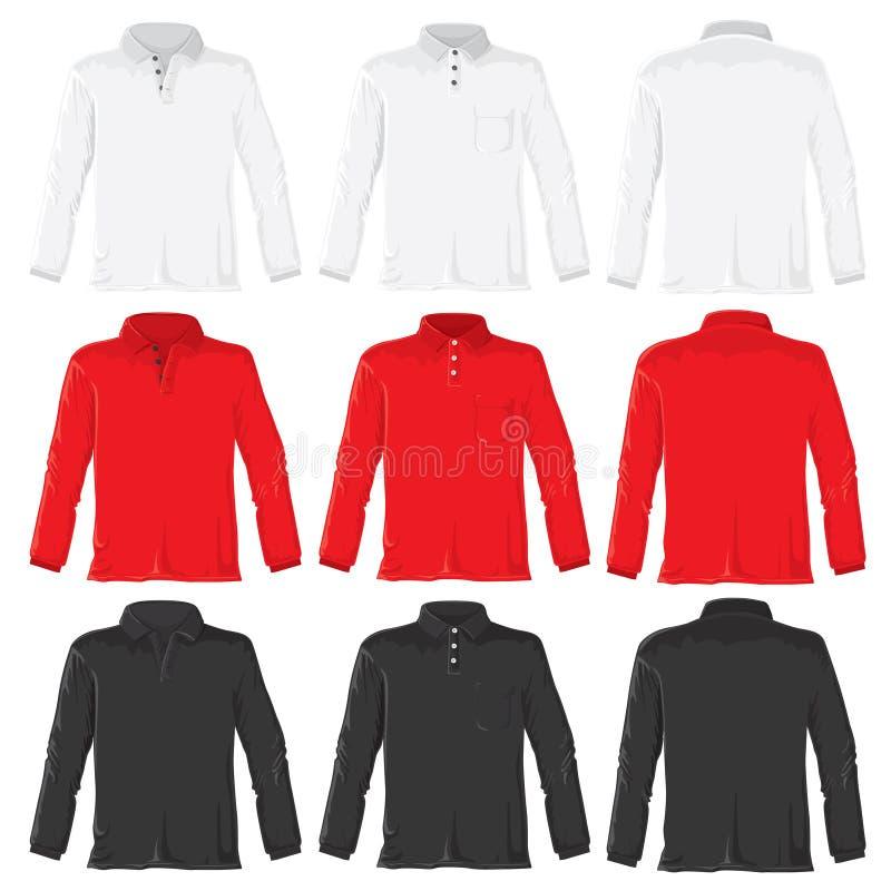 Chemise de polo avec de longues chemises illustration stock
