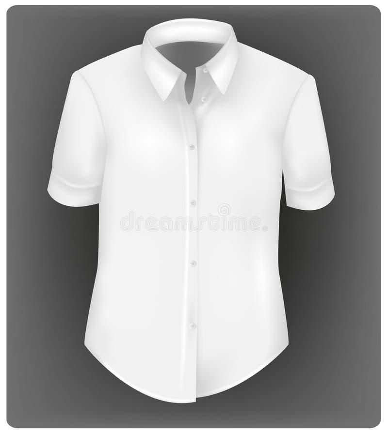Chemise de polo blanche. illustration de vecteur