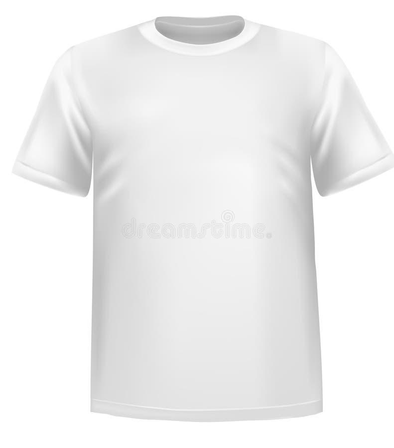 Chemise de polo blanche. illustration stock