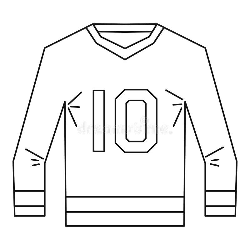 Chemise de sports avec le style d'ensemble d'icône du numéro 10 illustration libre de droits
