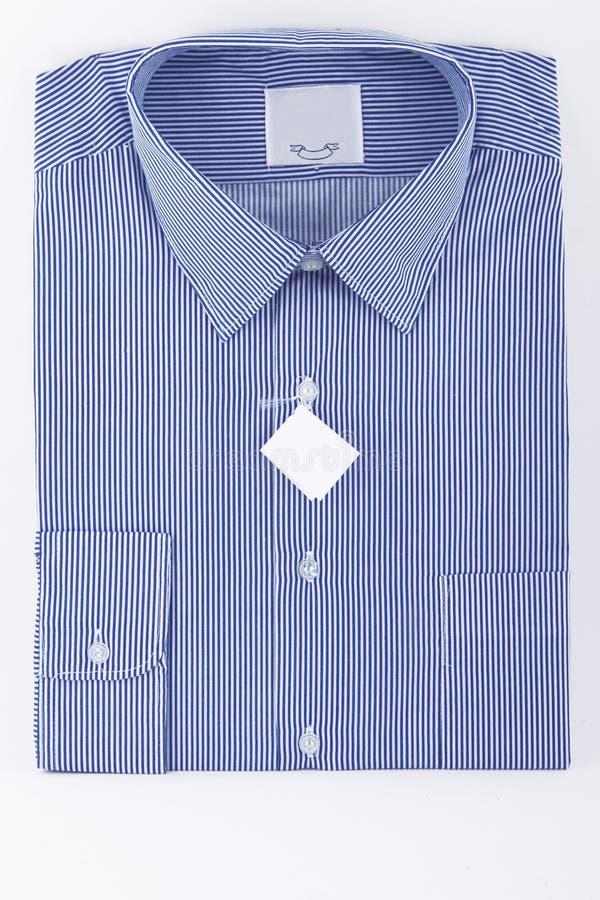 Chemise rayée d'affaires bleues photos libres de droits