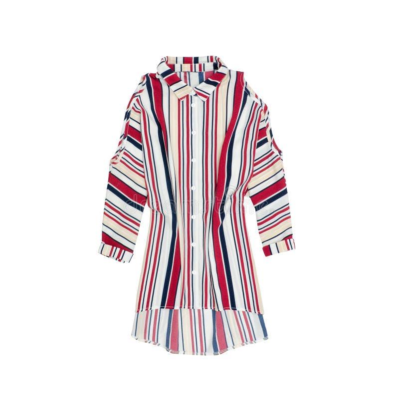 Chemise rayée de couleur sur un fond blanc isolat Escroquerie de mode photos libres de droits