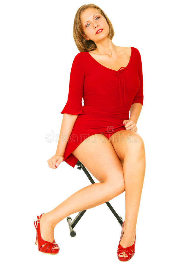 chemise sexy rouge de fille photo stock