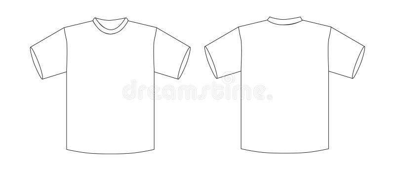 chemise t illustration de vecteur