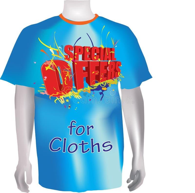 chemise t spécial d'offres de tissus illustration libre de droits