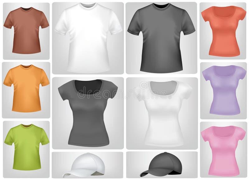 Chemises et capuchons colorés. illustration libre de droits