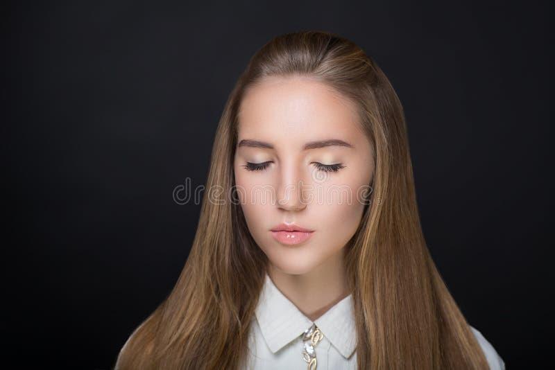 Chemisier de blanc de femme photo stock