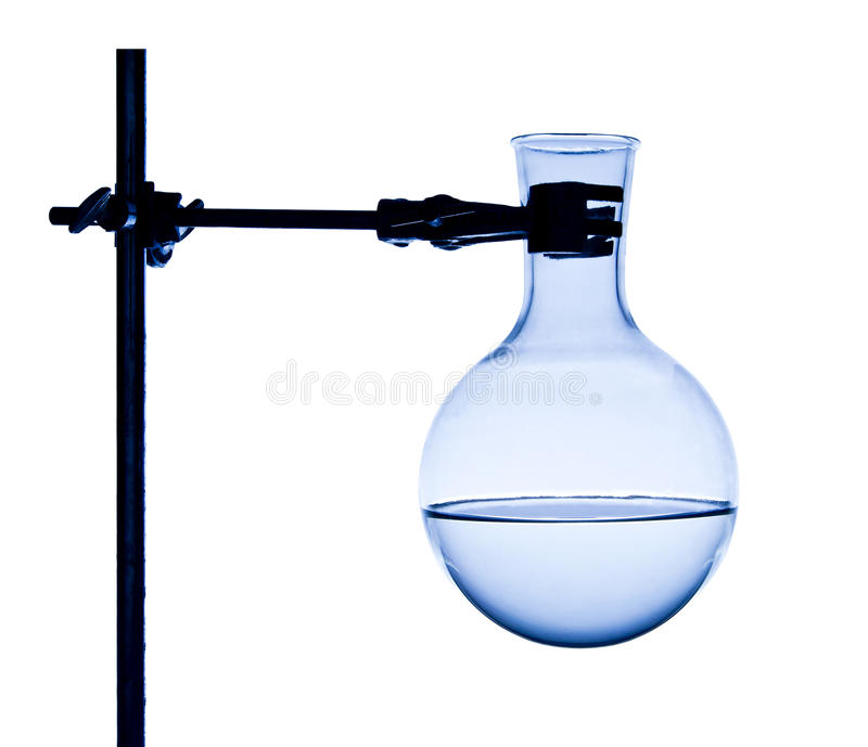 Chemist flask on support royalty free stock photography