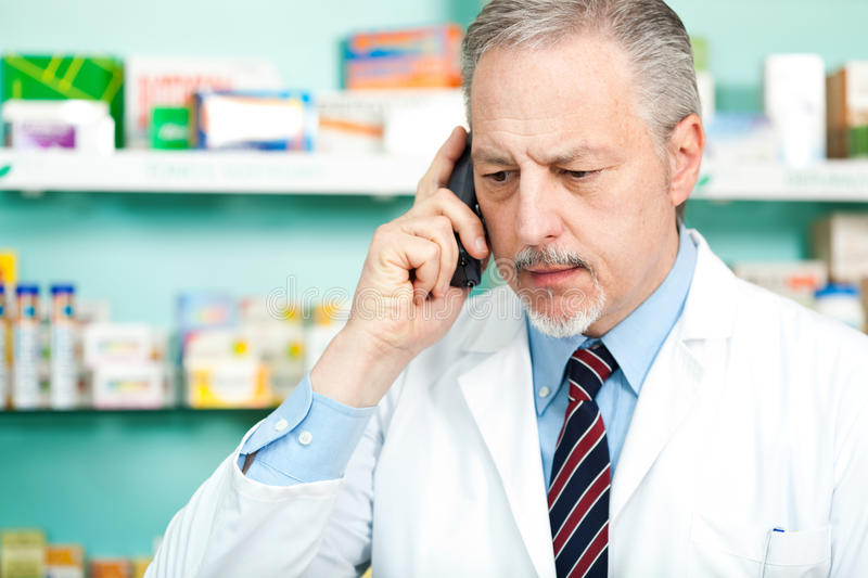 Download Chemist at phone stock photo. Image of interior, healthcare - 24511528