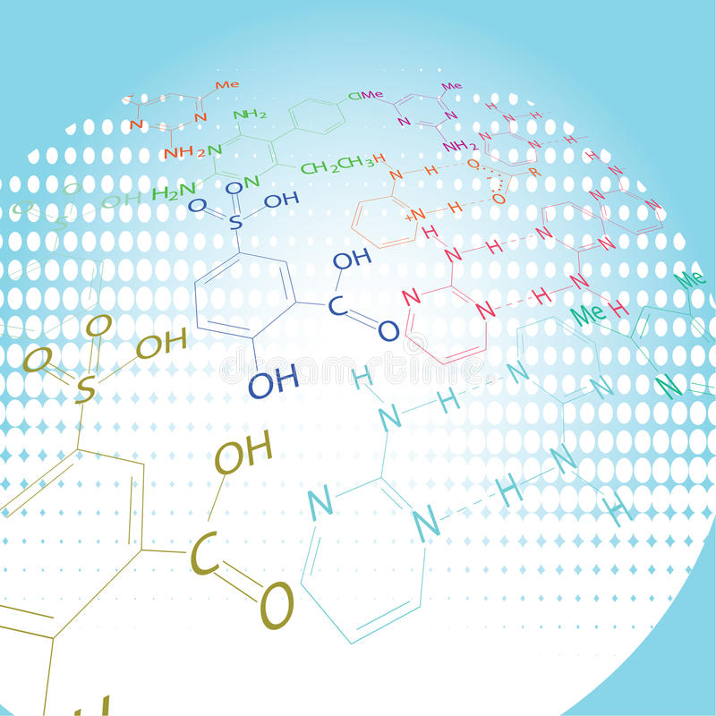 Chemistry abstract design royalty free illustration