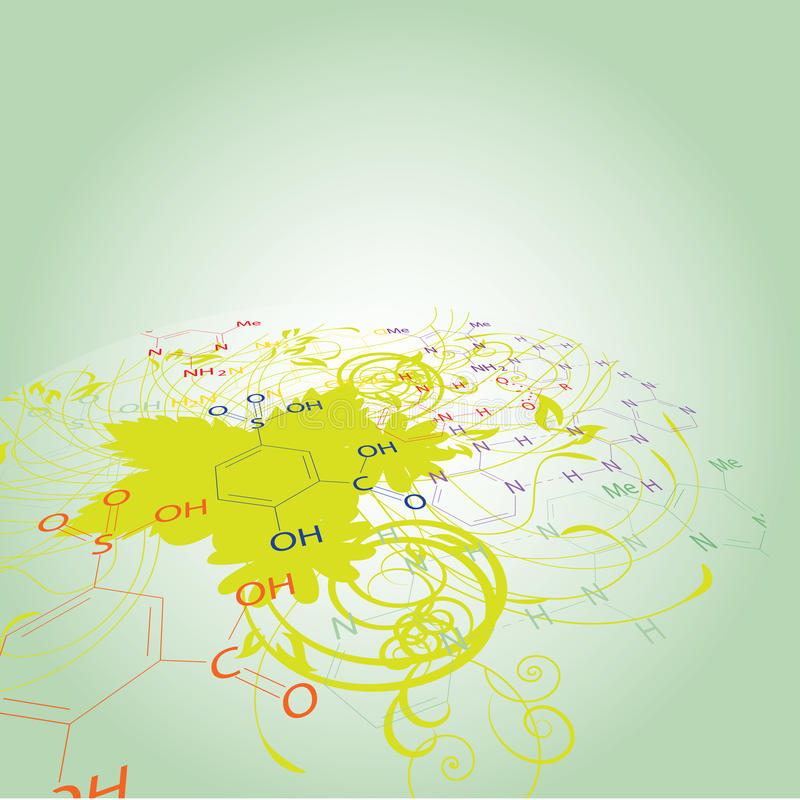 Chemistry abstract disign royalty free illustration