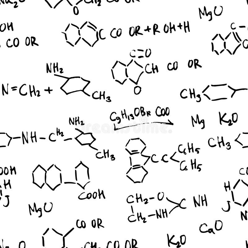 Chemistry abstract formulas. stock illustration