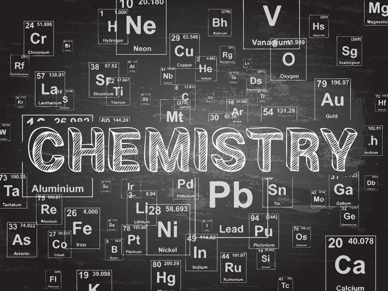 Chemistry Background Stock Vector Illustration Of Word 87578697