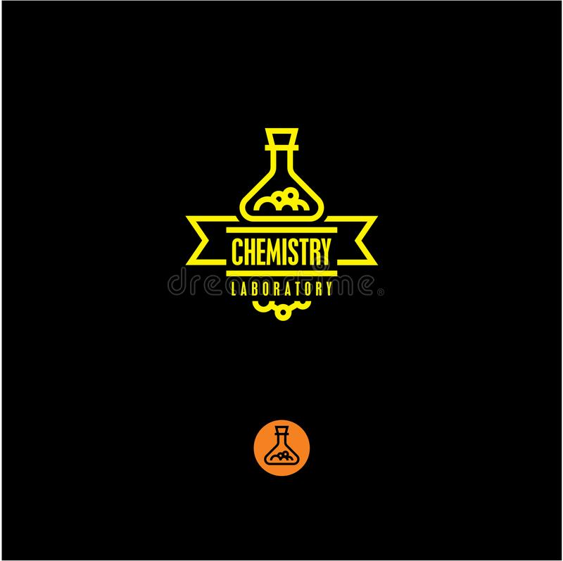 Chemistry, chemical industry, chemical icon. Flask royalty free illustration