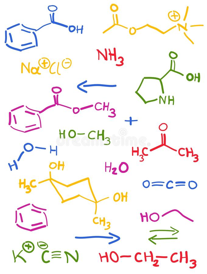 Download Chemistry Doodle. Royalty Free Stock Photos - Image: 18434068