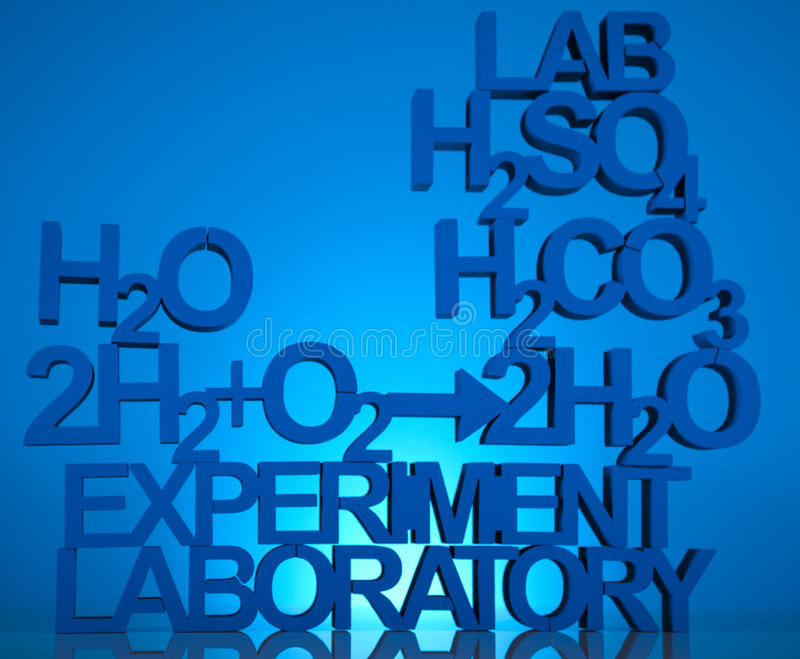 Chemistry formula background royalty free stock photos