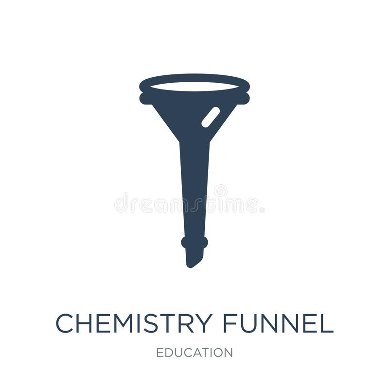 chemistry funnel icon in trendy design style. chemistry funnel icon isolated on white background. chemistry funnel vector icon stock illustration