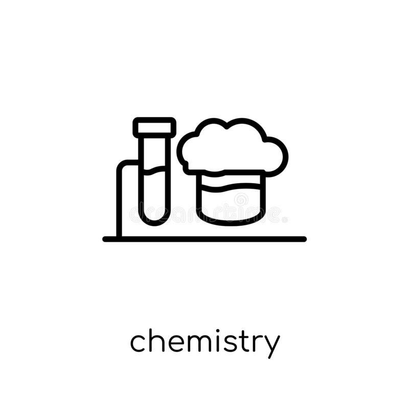 Chemistry icon from collection. stock illustration