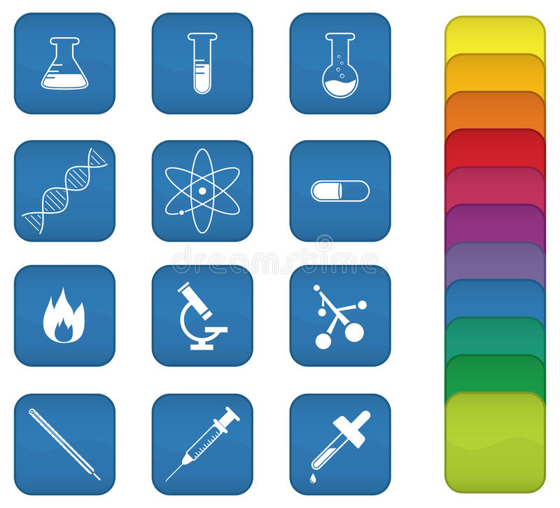 Download Chemistry Icons stock vector. Illustration of icon, tube - 14761221