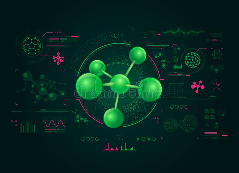 Chemistry interface stock illustration
