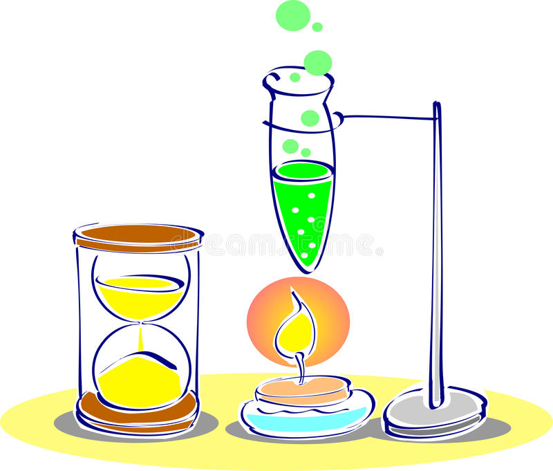 Chemistry lab royalty free illustration