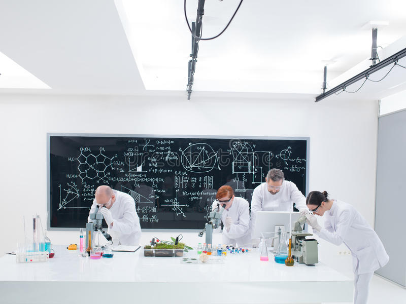 Download Chemistry Lab Co-workers Analysis Stock Image - Image: 31258571