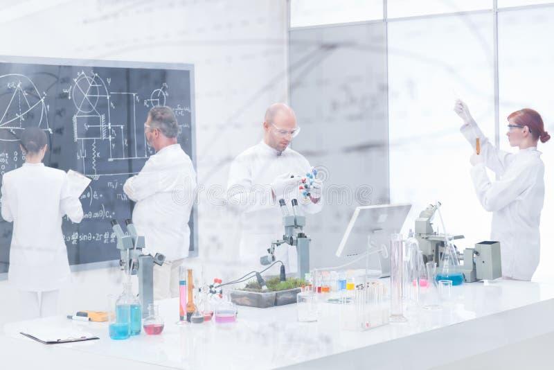 Chemistry lab experiments stock photos