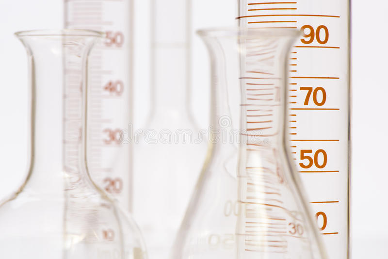 Chemistry lab with test tubes stock photography