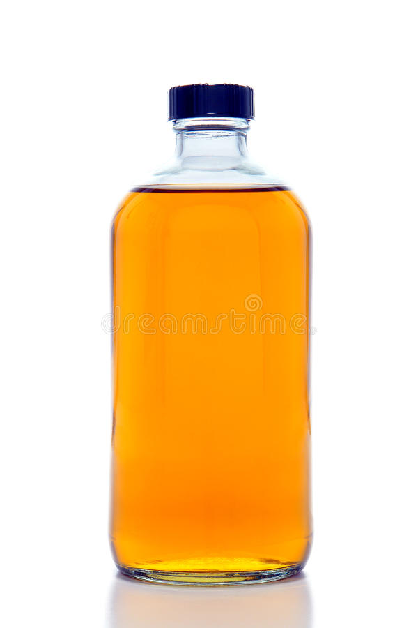 Chemistry Laboratory Glass Bottle stock images