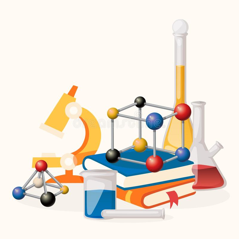 Chemical Flasks Equipment - Test Tube, Empty Isolated On